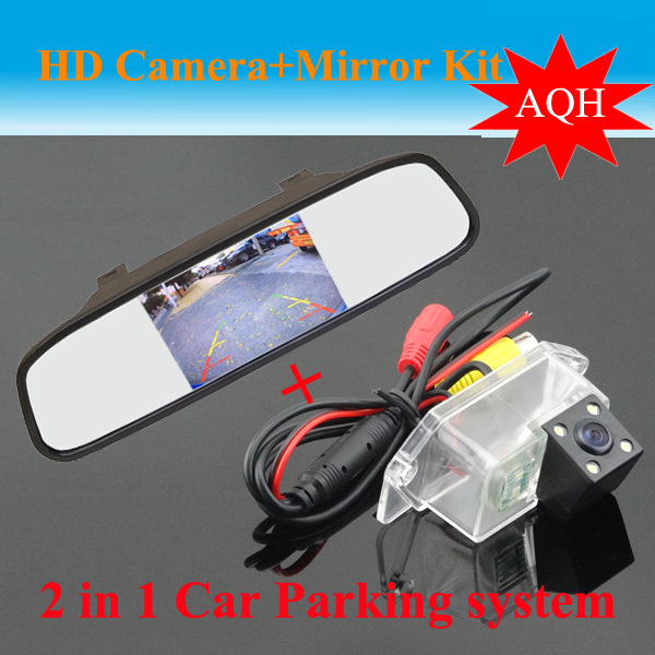 Promotion 4.3 car mirror monitor LCD TFT + car rear view parking backup camera for Mitsubishi Lancer /wing God / cheetah soarn<br><br>Aliexpress