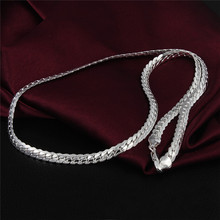 925-sterling-silver sterling-silver-jewelry necklace statement maxi collier jewelry collares colar bijoux women link chain 31(China (Mainland))