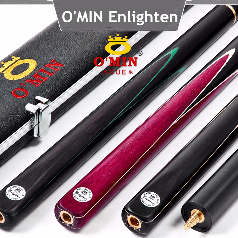 Original OMIN Enlighten 3/4 snooker cue with extension,145cm,ash wood,billiard pool cue,snooker stick,free shipping by DHL(China (Mainland))