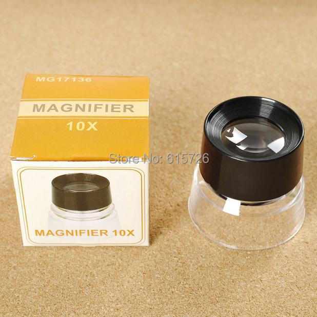 High Quality 10X Cylinder Magnifier Magnifying Glass Microscope for Jeweler Loupe Stamp Antique with Packing box free shipping <br><br>Aliexpress