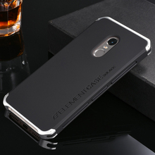 Metal Aluminum Border & Silicone Hard Back Cover Case For Xiaomi Redmi Note 4 4X Note4 Note4X 5.5'' Luxury Mobile Phone Cover(China (Mainland))
