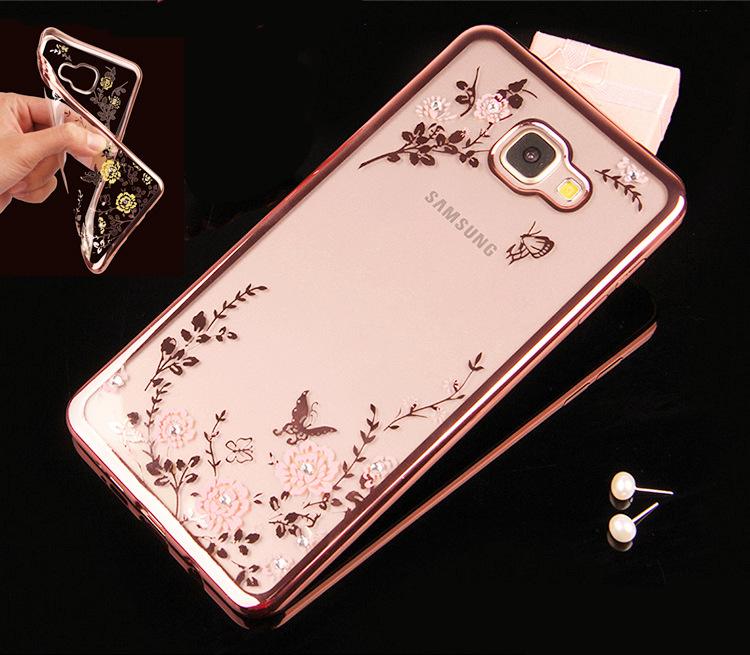Flora Diamond Case for Samsung Galaxy A3 A5 A7 2016 J5 J7 S5 S6 S7 Edge