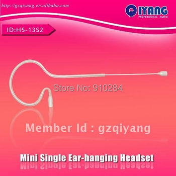 Retail HS-13S4-L4C  for Senheiser model 3.5mm Plug Skin Color Headset Microphone for Senheiser body-pack Transmitter