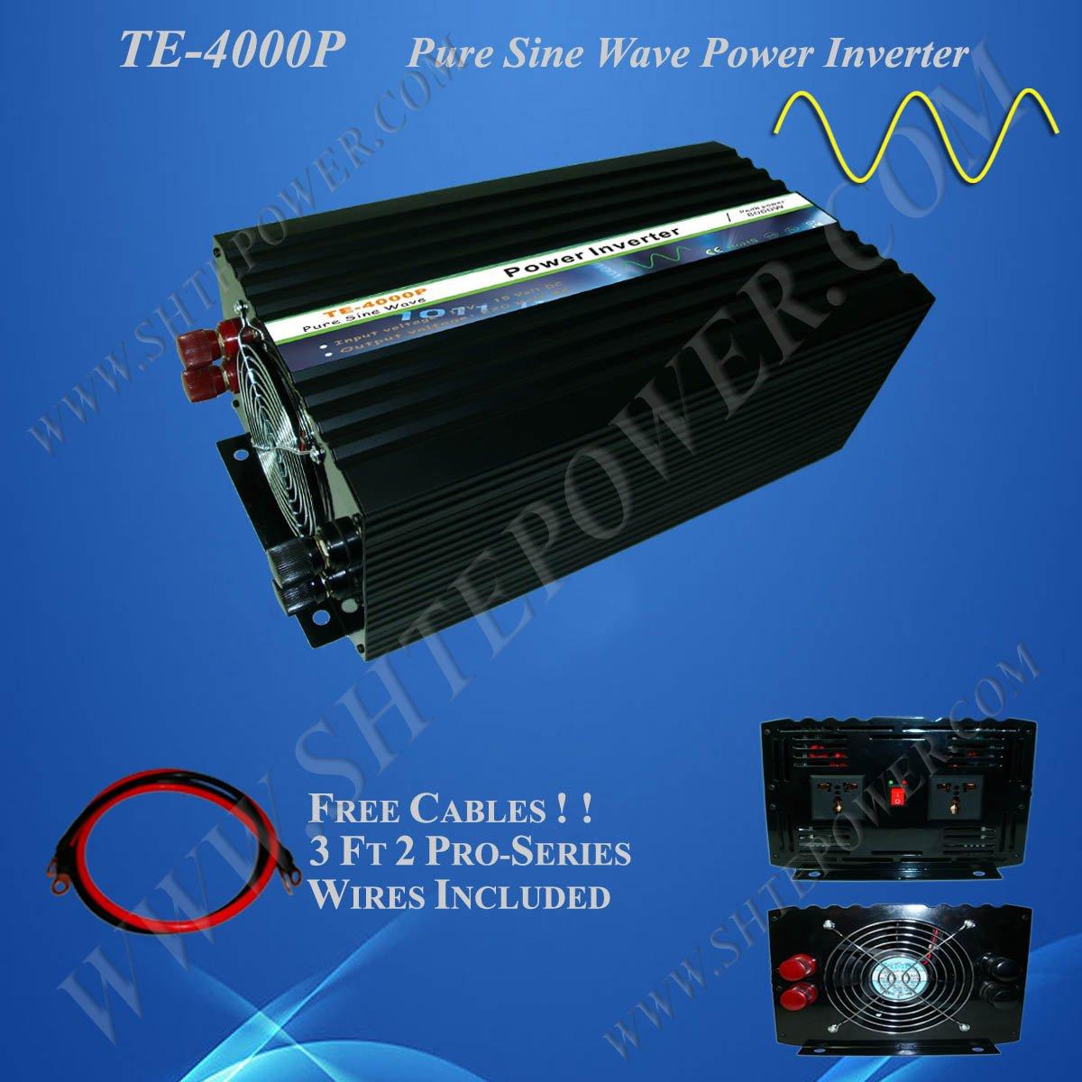 4000w 4kw Pure Sine Wave Solar Inverter dc 12v/24v to ac 220v/230v/240v/100v/110v/120v(China (Mainland))