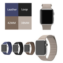 1:1 Original Leather Loop Band for Apple Watch Watchband Strap,Wrist Band for iwatch 42MM 38MM