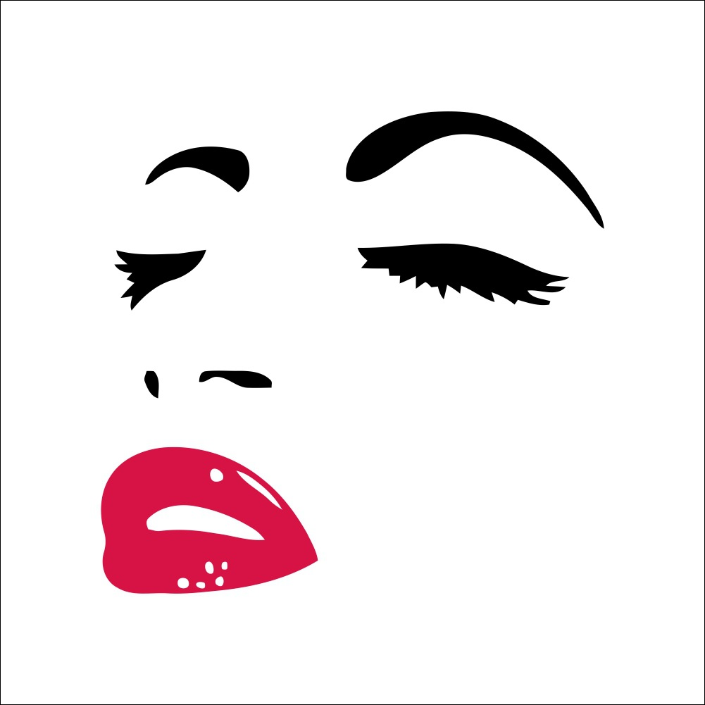 Decoration Sexy Audrey Hepburn girl lips eye wall stickers bedroom wall 3D stickers DIY Daily Art Tattoo home(China (Mainland))