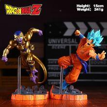 Dragon Ball Z Super Saiyan Goku Son Freeza Freezer Ultimate Form Anime Combat Edition PVC Action Figure Collectible Toys #FB(China (Mainland))