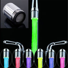 Creative Multicolor LED Water Faucet Light Glow Shower Stream Tap Bathroom Water Faucet Tap Easy To Install NXH1487