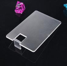 1000pcs/lot Transparent Card USB Flash Drive Pen drive 1-32gb pendrive (Free printing LOGO)(China (Mainland))