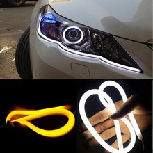 R1B1 2pcs 60cm DRL Flexible LED Tube Strip Style Daytime Running Lights  Free Shipping