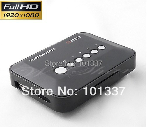 Full Hd 1080P Media Player USB/SD RMVB RM H.264 MKV AVI VOB with AV, YUV, HDMI port Mini Hdd player free shipping(Hong Kong)