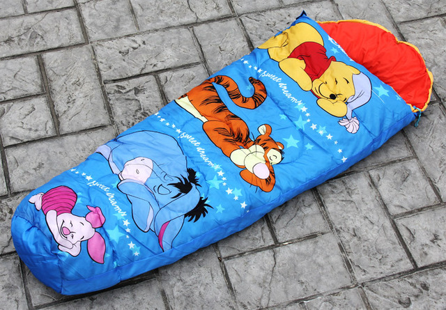 Child outdoor camping sleeping bag,envelope cap sleeping bag Multi pattern choosen free shipping