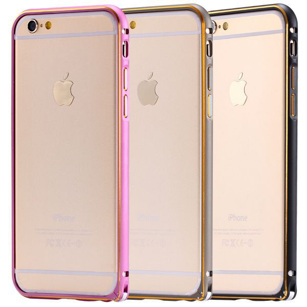 Luxury Slim Hard Cover Case iphone 6 4.7 Deluxe Aluminum Metal Gold Frame +Double Color Bumper iphone6 R04884 - RCD Technology store