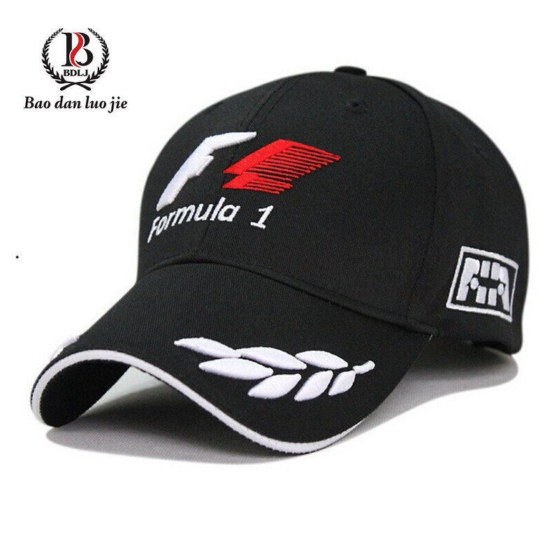 wholesale 2015 Good Quality Cotton F1 Brand Golf Cap Casual Baseball Cap Snapback Hat cap Fitted Hats For men and women(China (Mainland))