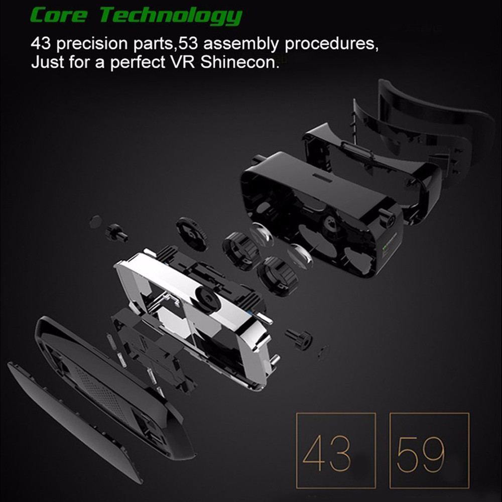 - HTB1sCUpOpXXXXciXFXXq6xXFXXXj - VR Box Shinecon 1 VRBOX Casque Video 3D Gerceklik Google Cardboard Virtual Reality Goggles 3D Glasses Headset Smartphone Helmet