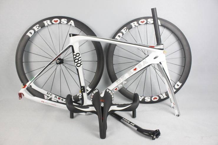 2015 de rosa 888 cuadro bicicleta carbono carbon road frame cuadros de bicicletas mtb frame+handlebar+saddle+wheelset free ship<br><br>Aliexpress
