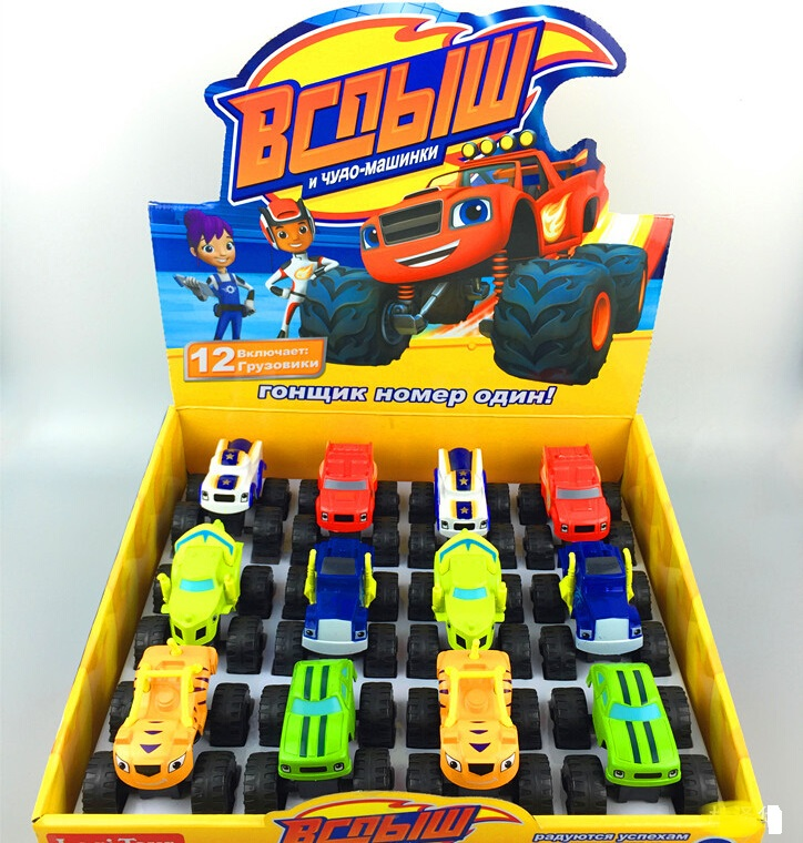 Best Price 6pcs/Set Blaze Monster Machines Kid Toys Vehicle Car Classical Toys Action & Toy Figures Transformation Original Box(China (Mainland))