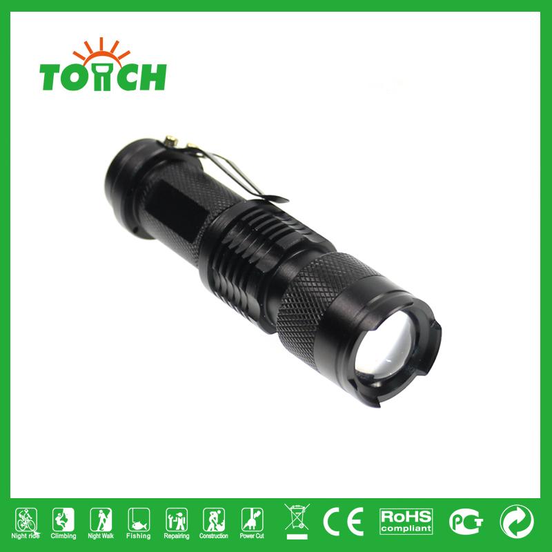 Mini LED Flashlight XML Q5 Bulb High power 800 Lumens pocket carry torch bicycle riding flash lights AA/14500 promotion 3001(China (Mainland))