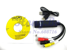 Freies Verschiffen neue USB 2.0 einfacher CAP DC60 TV DVD VHS Video Adapter Capture-Karte Audio AV Erfassen(China (Mainland))