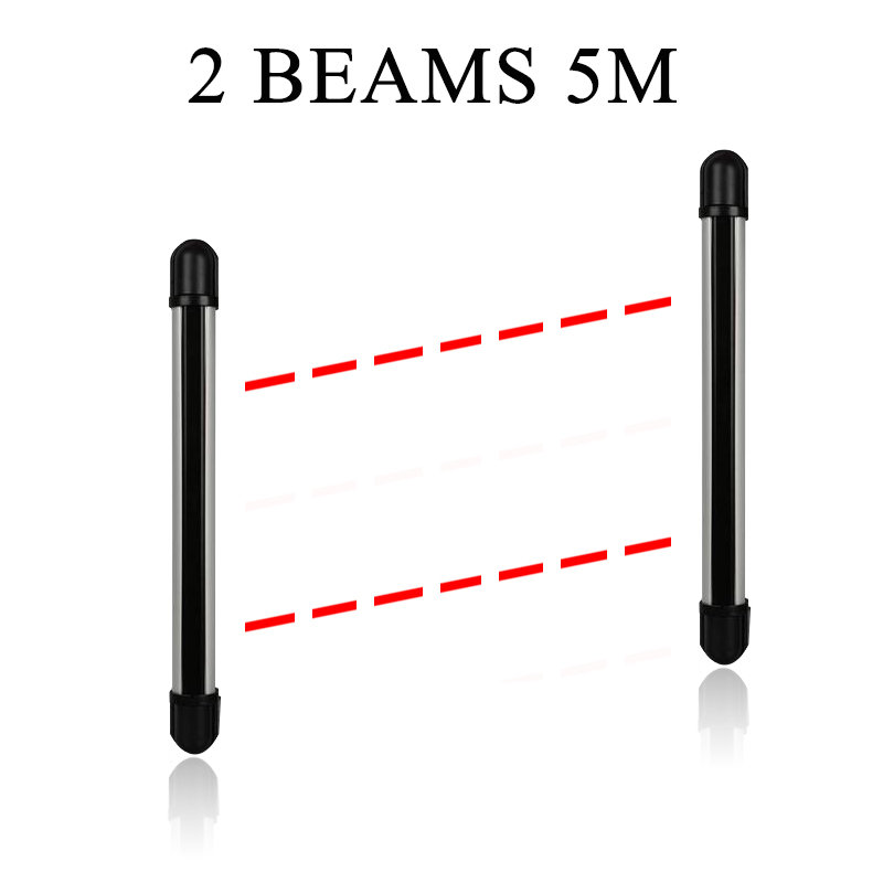 High Quality 433MHZ Wireless Outdoor Anti-theft Infrared Barrier 2 Beams 5 Meter Infrared Fence for Home Security Alarm System(China (Mainland))