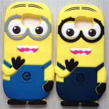 Hot 3D cartoon Despicable Minions Silicon case cover coque Samsung Galaxy S6 Edge S5 S4 S3 A3 A5 A7 Note 2 3 4 - Shenzhen Yanlung Trade Co., Ltd store