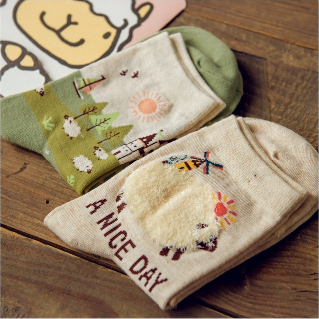 Новый бренд Caramella японский каваи носки милые женщины 3D чистой мультфильм носок очаровательны животных 100 для женщин