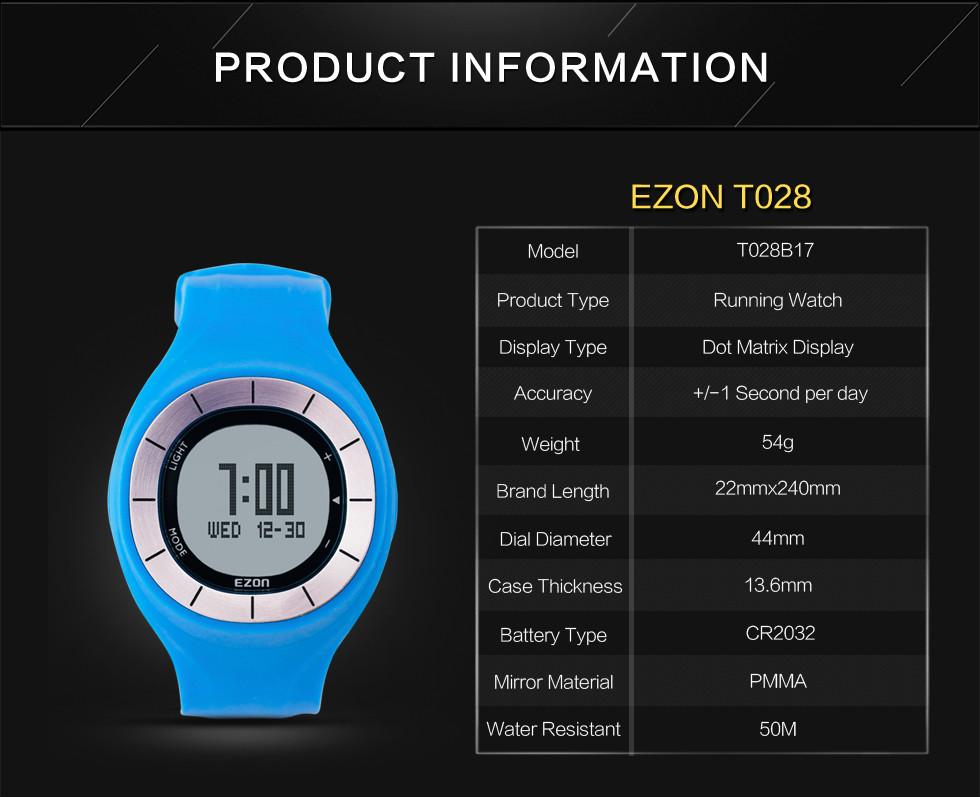 EZON пары открытый кроссовки носимых интеллектуальных устройств электронные часы водонепроницаемые часы календарь сигнализация шагомер спортивные мужские часы