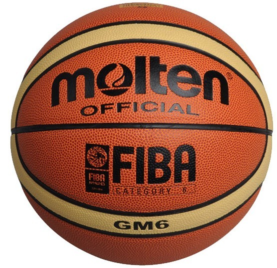 NEW Brand High Quality Genuine Molten GM6 Basketball Ball PU Materia Official Size6 Basketball Free With Net Bag+ Needle+Pump(China (Mainland))