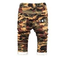 2017new baby pants For Boy Camouflage Baby Boys Jeans Pants Designer spring Kids Jean Children's Elastic Waist Denim Long Pant(China (Mainland))