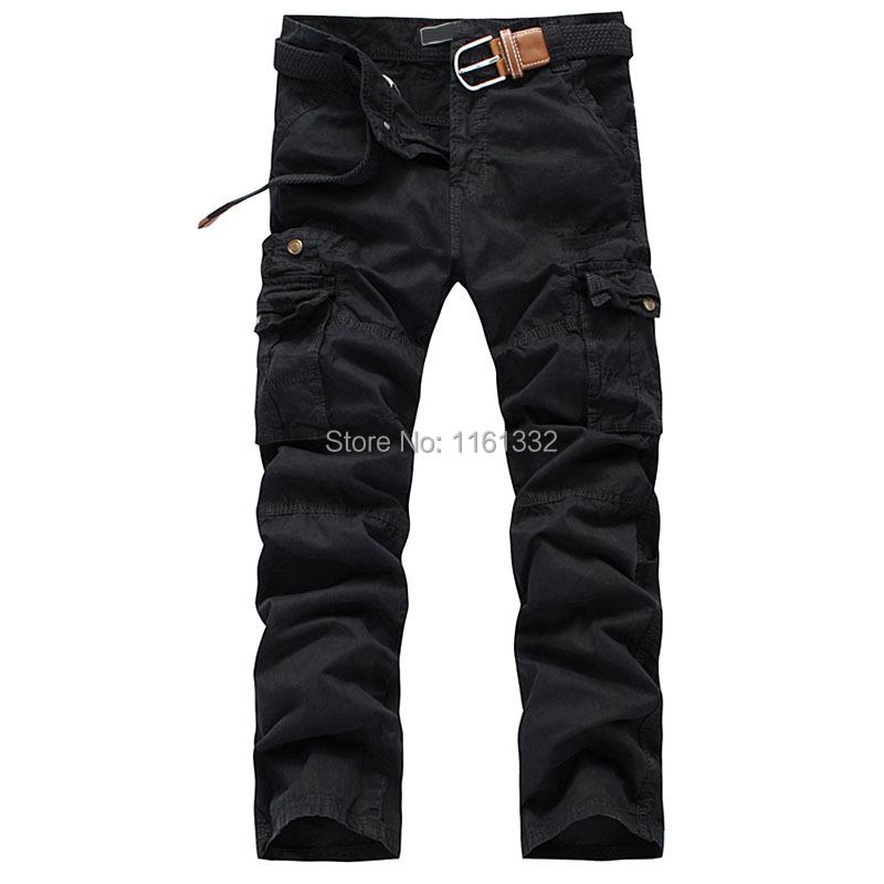 product 2014 Wholesale Men's Fashion Como Casual Combat Cargo Pants Multi-Pocket Trousers Sports Cotton
