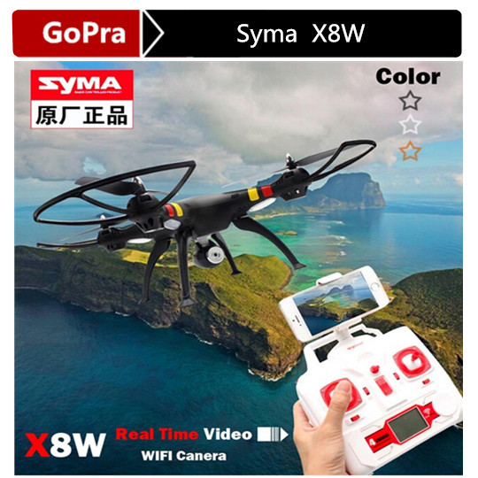 RC drone Syma X8W 2.4G 4ch 6 Axis Venture with hd WIFI FPV Wide Angle Camera RC Quadcopter RTF RC Helicopter VS X8C DJI Phantom(China (Mainland))