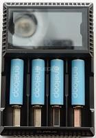 ถูก เดิมKlarus CH4Sสมาร์ทชาร์จแบตเตอรี่ACการป้อนข้อมูลUSB 4สล็อตจอแอลซีดีอัจฉริยะชาร์จแบตเตอรี่สำหรับC AA AAA 18650 26650 14500