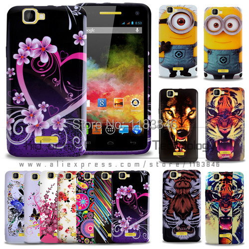 New arrievd flowers tiger pattern soft TPU cellphone case cover for Explay fresh phone bag with free gift(China (Mainland))
