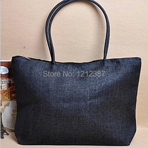 Black NEW Women Fashion Style Straw Summer Beach Tote Big Shoulder Bag Purse Handbag HB88<br><br>Aliexpress