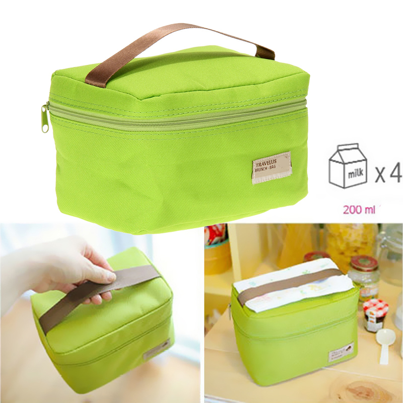 2016 Hot Convenient Portable Insulated Thermal Cooler Bento Kids Lunch Box Tote Picnic Storage Lunch Bag for worker And students(China (Mainland))