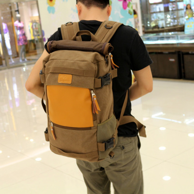 !2015 Muzee Brand Design Double-Shoulder Canvas Laptop Men's Backpacks Travel Bag 3 Colors - Shenzhen Glittering Days trading co., LTD store