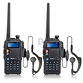 2pcs BAOFENG UV 5X Walkie Talkie Upgraded Version of Baofeng UV 5R UHF VHF Two Way