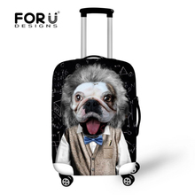 Thick elastic travel luggage protective cover apply 18 to 30 inch case 3d animal dog waterproof rain cover for trolley suitcase(China (Mainland))