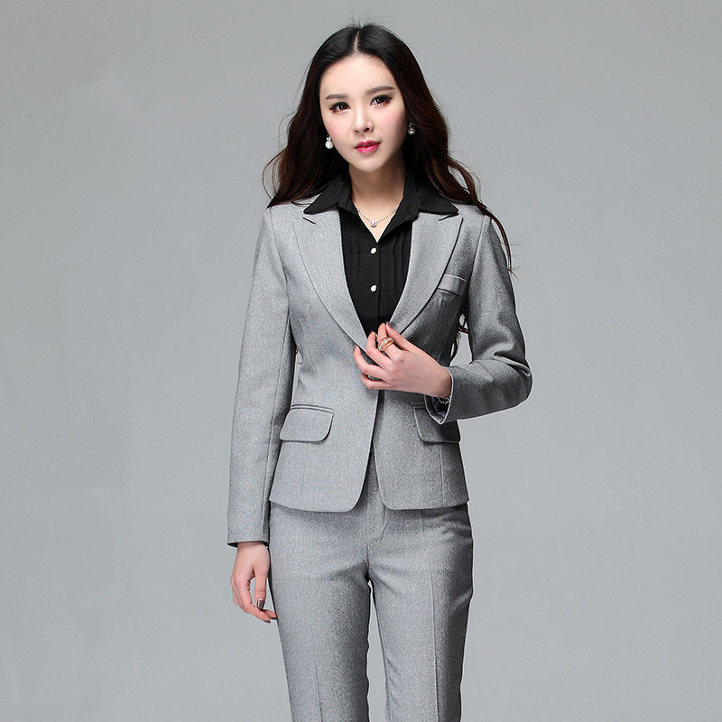 2015 autumn winter women business suits formal office