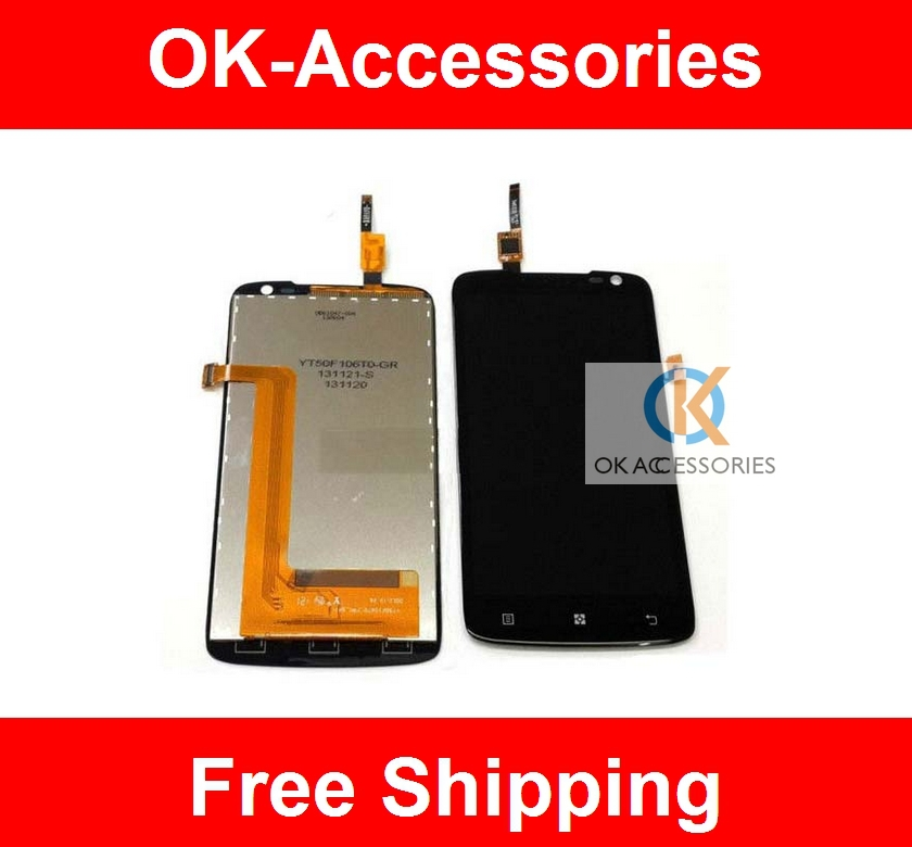 Over 2PCS 1% Discount LCD Display+ Touch Screen Digitizer For Lenovo S820 1PC /Lot Free Shipping