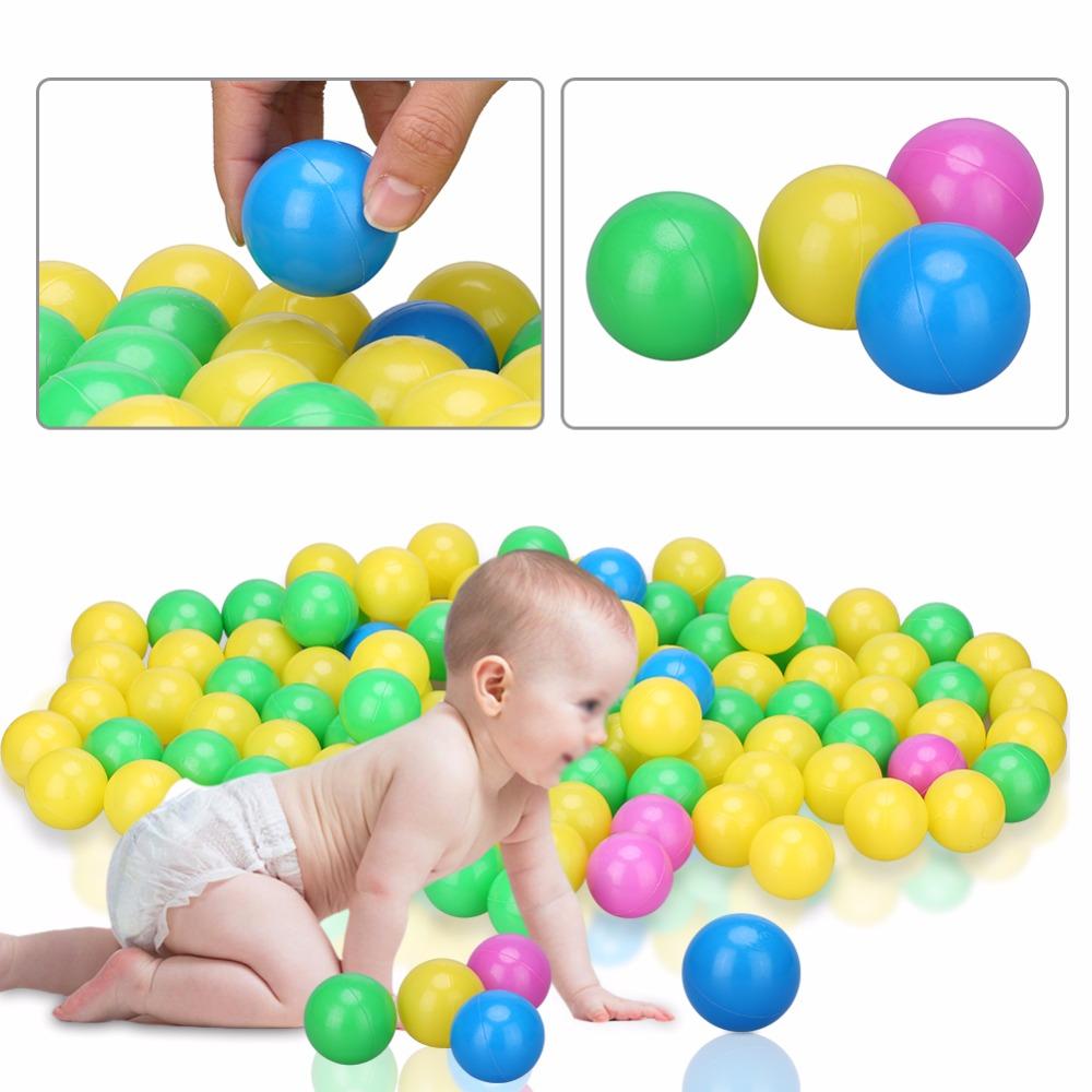 100pcs/set Soft Plastic Colorful Kid Ocean Ball Children Kid Swim Toy Secure Ocean Wave Balls Baby Pits Water Pool Swim Toys 4cm(China (Mainland))