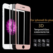 Protector film glass on the for iphone 6s Tempered Glass screen protector for iphone 6 3D Full Coverage Edge to Edge Protection