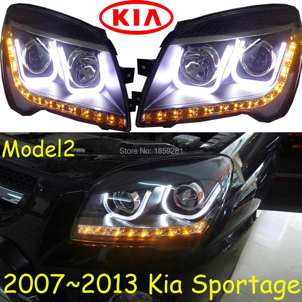KlA Sportage headlight,2011~2014 (Fit for LHD and RHD),Free ship!Sportage daytime light,2ps/se+2pcs Aozoom Ballast