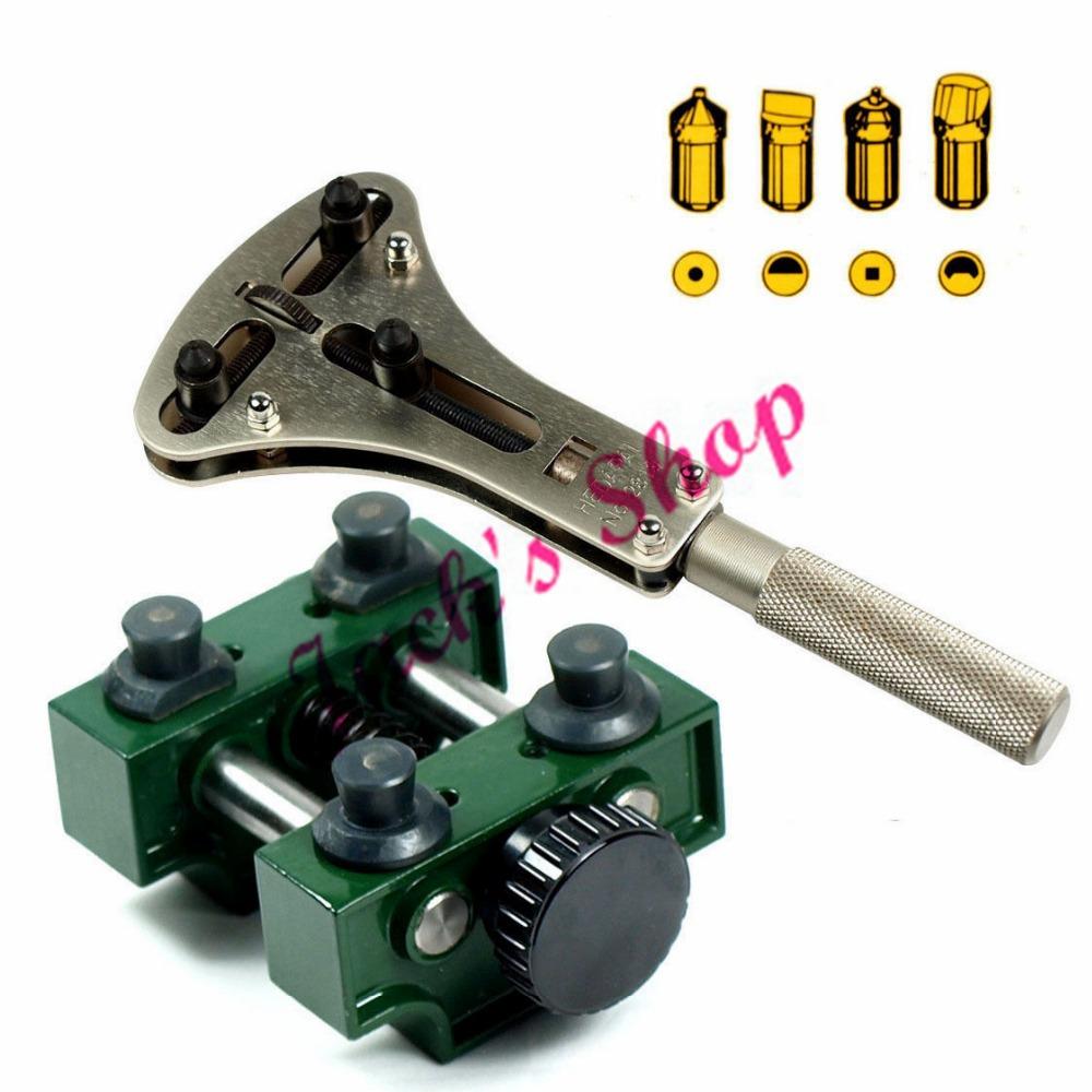 Large Waterproof Watch Case Opener kit - XL Jaxa Wrench #2819 Case Holder #5094(China (Mainland))