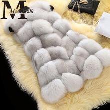 High quality Faux Fox Fur Vest Women Vests 2015 Winter Fashion Luxury Women's Coat fur Jacket Gilet Veste Fourrure Femme S964(China (Mainland))