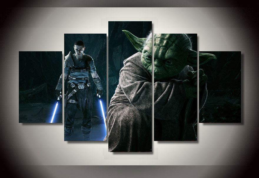 star wars movie 5 piece picture painting wall art children 39 s room