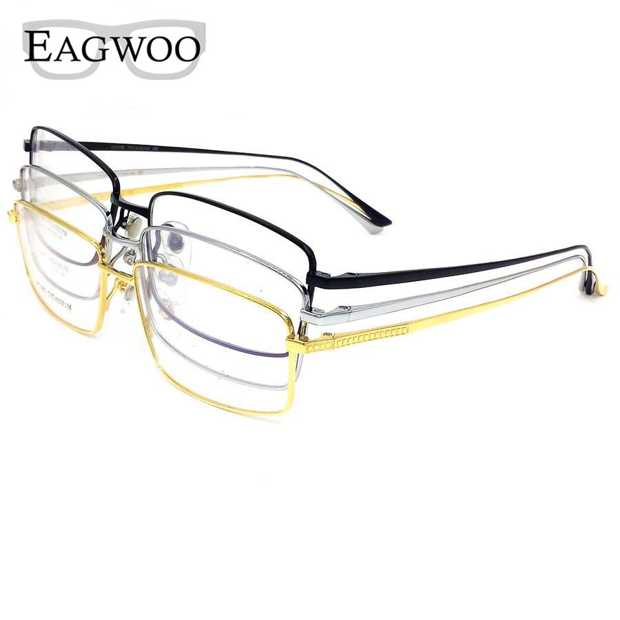 Frameless Eyeglasses Frames : Pure Titanium Eyeglasses Full Rim Optical Frame ...