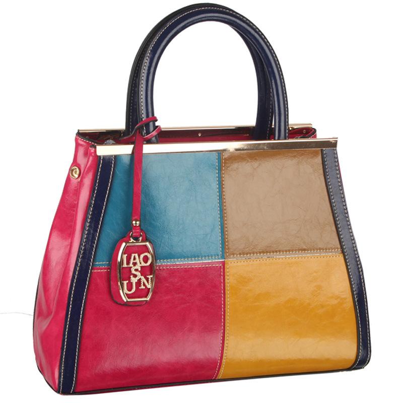 70%off!!! New patent leather high-end fashion elegant handbag Womens handbags Bag ladies leather bag stitching ladies bags<br><br>Aliexpress