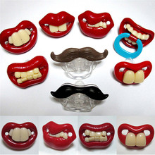 Funny Infant Baby Teether Pacifiers Orthodontic Silicone Nipples Lips 8 Styles 0035(China (Mainland))