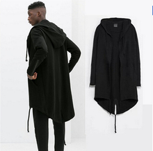 Original design 2016 New Fashion men's coat Hooded dovetail cardigan men hood black cloak outerwear oversize S-XXL(China (Mainland))